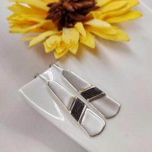 pendientes de azabache y plata corbata